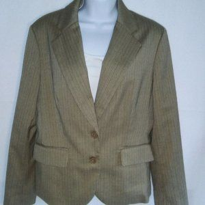 Tan Suit Jacket by New York & Company